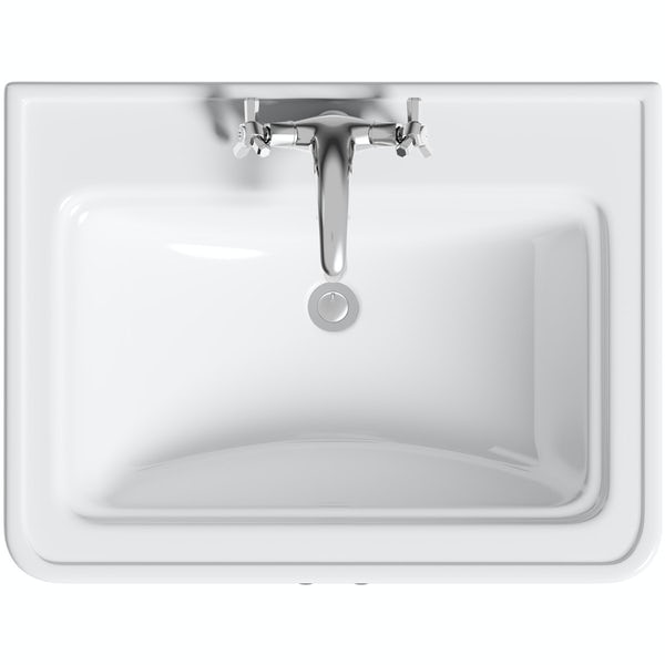 The Bath Co. Beaumont powder blue vanity unit 620mm