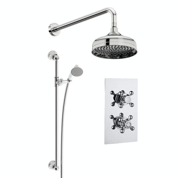 Kirke Classic concealed thermostatic mixer shower with wall arm and slider rail
