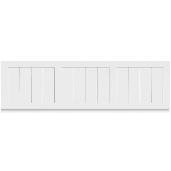 The Bath Co. Dulwich matt white wooden bath front panel 1700mm