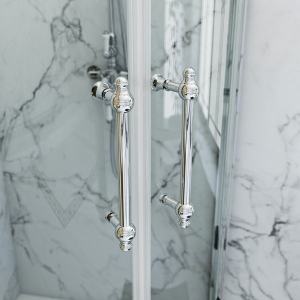 The Bath Co. Camberley 8mm traditional framed offset quadrant enclosure