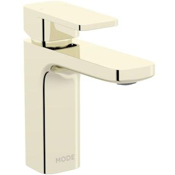 Mode Spencer square gold basin mixer tap offer pack