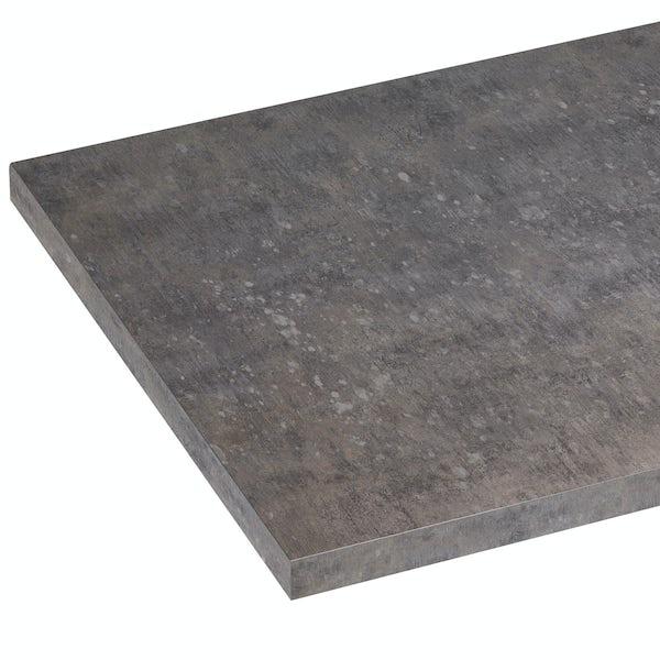 The Bath Co. Newbury mineral grey laminate worktop 353 x 1500mm