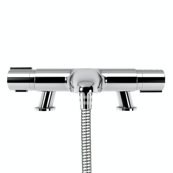 Aqualisa Midas 110 slider rail mixer shower with bath spout