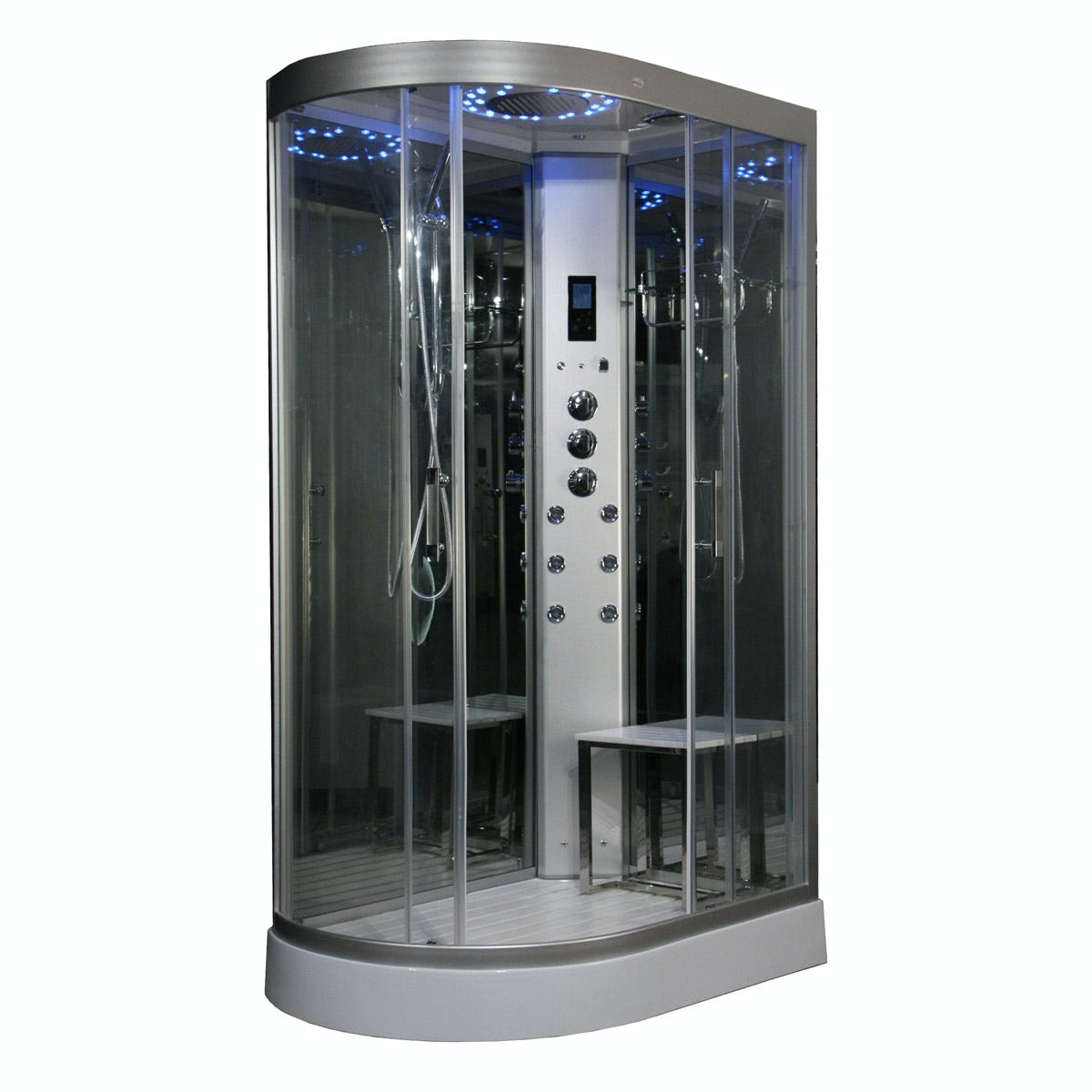 Insignia Right Handed Offset Quadrant Steam Shower Cabin 1200 X 800 Victoriaplum Com