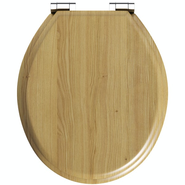The Bath Co. solid oak traditional style soft close wooden seat