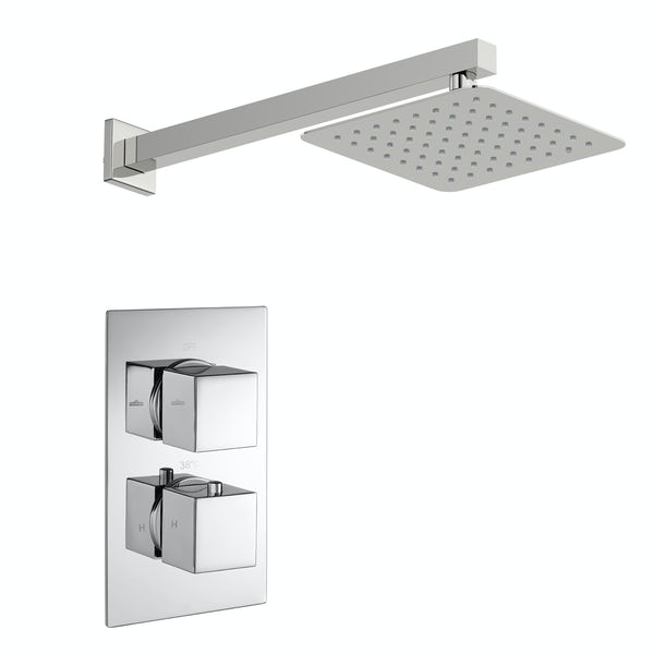 Kirke Connect concealed thermostatic mixer shower with wall arm