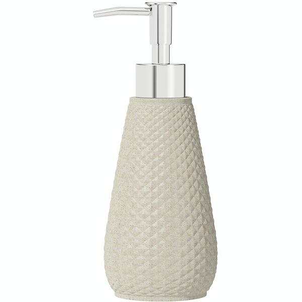 Accents ceramic cream soap dispenser