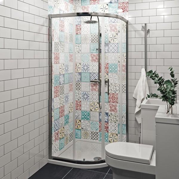 Showerwall Custom Moroccan acrylic shower wall panel