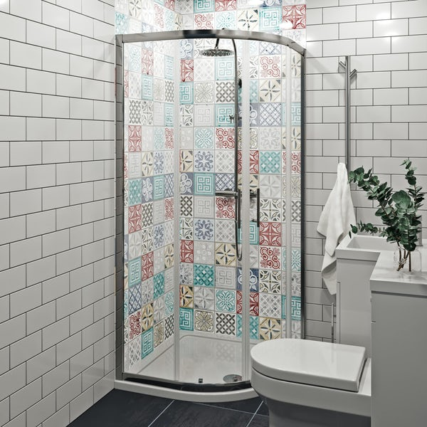 Showerwall Custom Moroccan acrylic shower wall panel