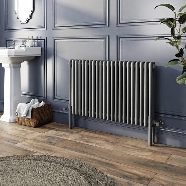 The Heating Co. Corso anthracite grey 3 column radiator