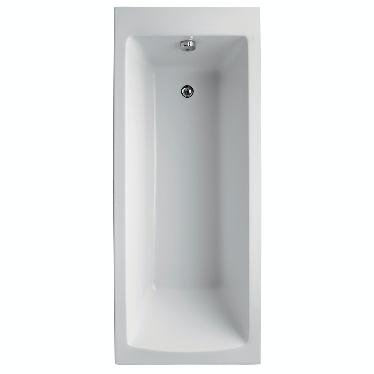 Ideal standard tempo single ended straight bath with front for Ideal standard diagonal