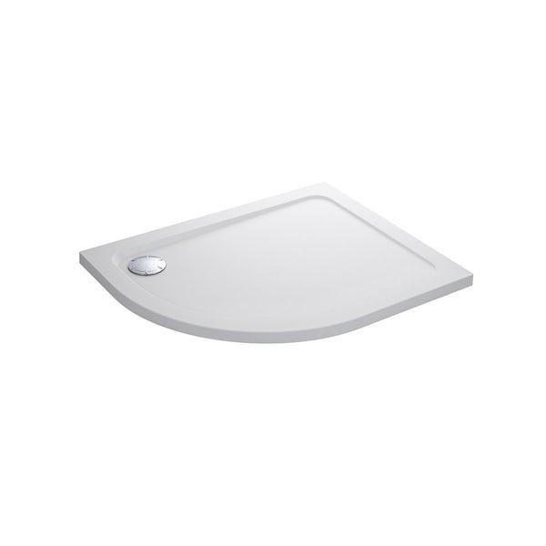 Mira Flight Safe low level anti-slip right handed quadrant shower tray 1200 x 900