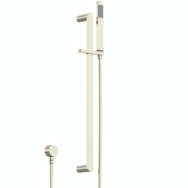Mode Spencer round gold twin diverter valve shower set