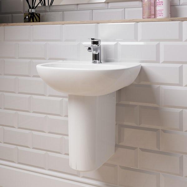 Ideal Standard Tesi 1 tap hole semi pedestal basin 450mm