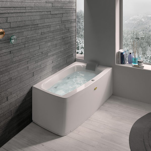 Jacuzzi the Essentials right handed compact offset corner whirlpool bath