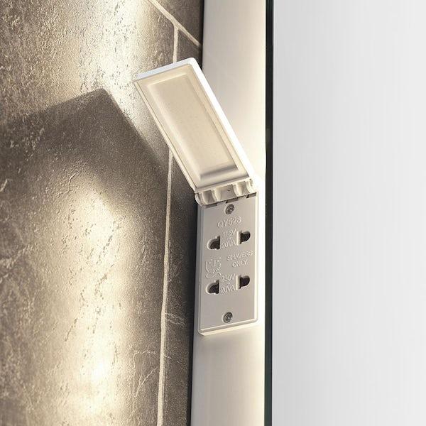 Mode Rahm back-lit diffused LED illuminated mirror 800 x 600mm with demister & charging socket
