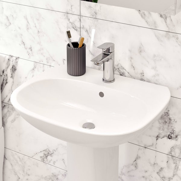 Ideal Standard Tesi Complete Bathroom Suite With Straight