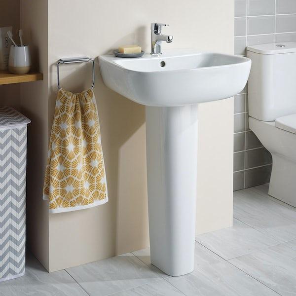 Ideal Standard Studio Echo 1 tap hole full pedestal basin 500mm