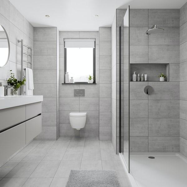 Grey Bathroom Tile Image Of