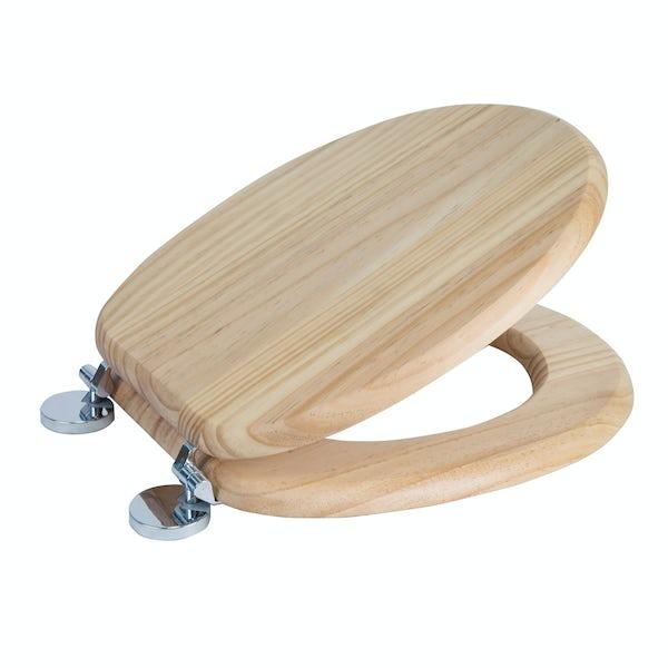 Croydex Davos blonded pine flexi fix toilet seat