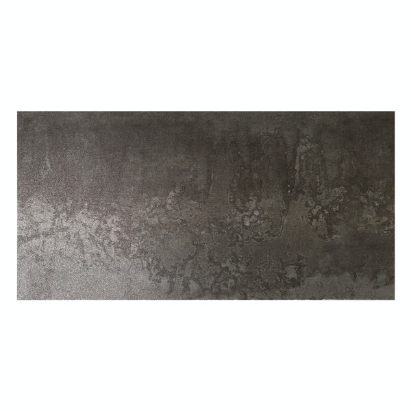 Cosmic black lappato textured wall and floor tile 300mm x 600mm