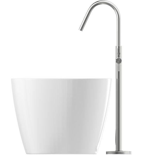 Mode Heath freestanding bath & tap pack with Heath bath filler