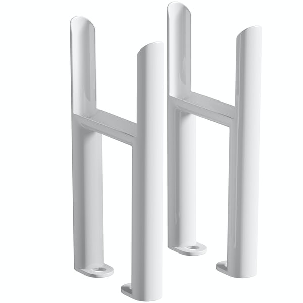 Clarity white 4 column radiator feet