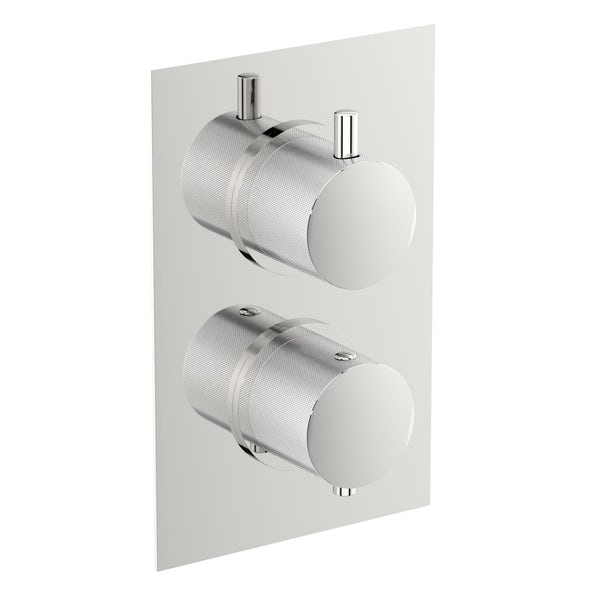 Mode Banks twin shower valve with diverter offer pack