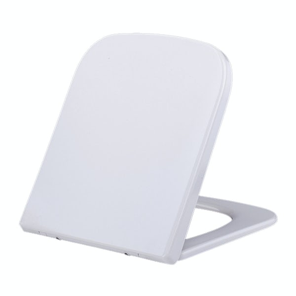 Orchard Lune white D-shape soft close toilet seat