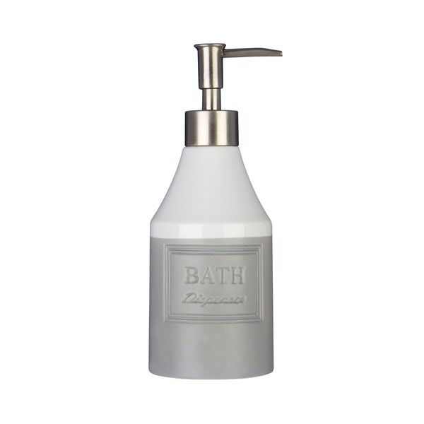 Vida stoneware grey lotion dispenser