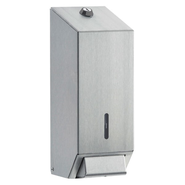Dolphin commercial stainless steel foam soap dispenser with satin finish