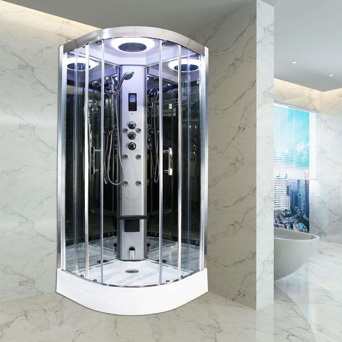 Insignia Steam Shower Cabin Enclosure Cubicle 1200x800mm 2nd Gen PLATINUM