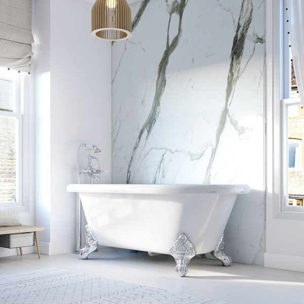 Showerwall Bianco Carrara waterproof shower wall panel