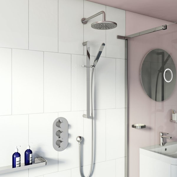 Harrison thermostatic triple shower valve complete shower set