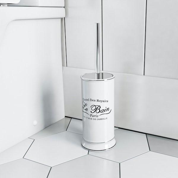 The Bath Co. Le bain toilet brush and holder