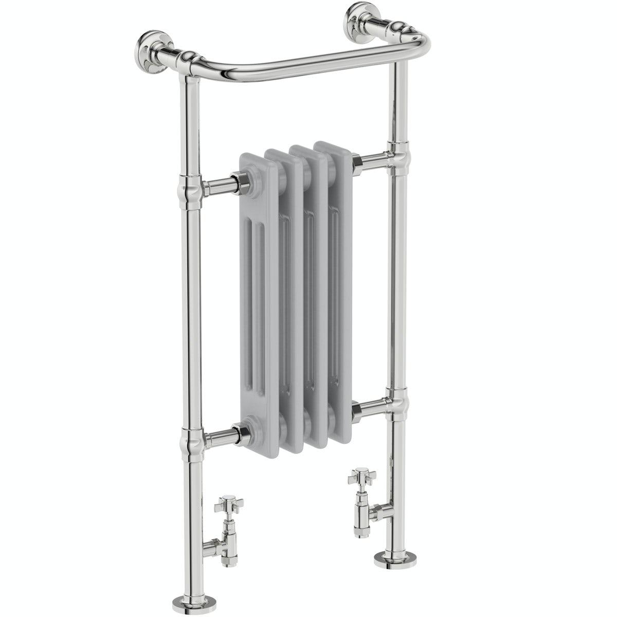 The Bath Co. Dulwich traditional satin grey radiator 952 x 479