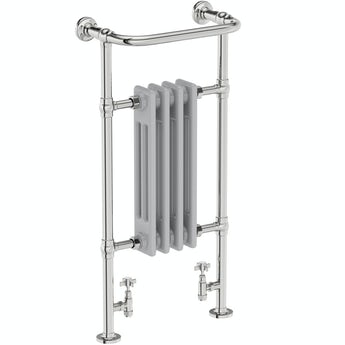 The Heating Co. Dulwich traditional satin grey radiator 952 x 479