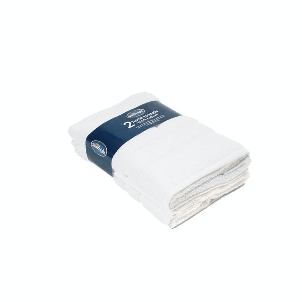 Silentnight Set of 2 White Hand Towel
