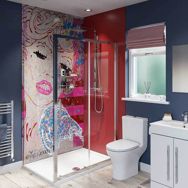 Louise Dear Brighton Belle Lippy Red shower wall panel pack