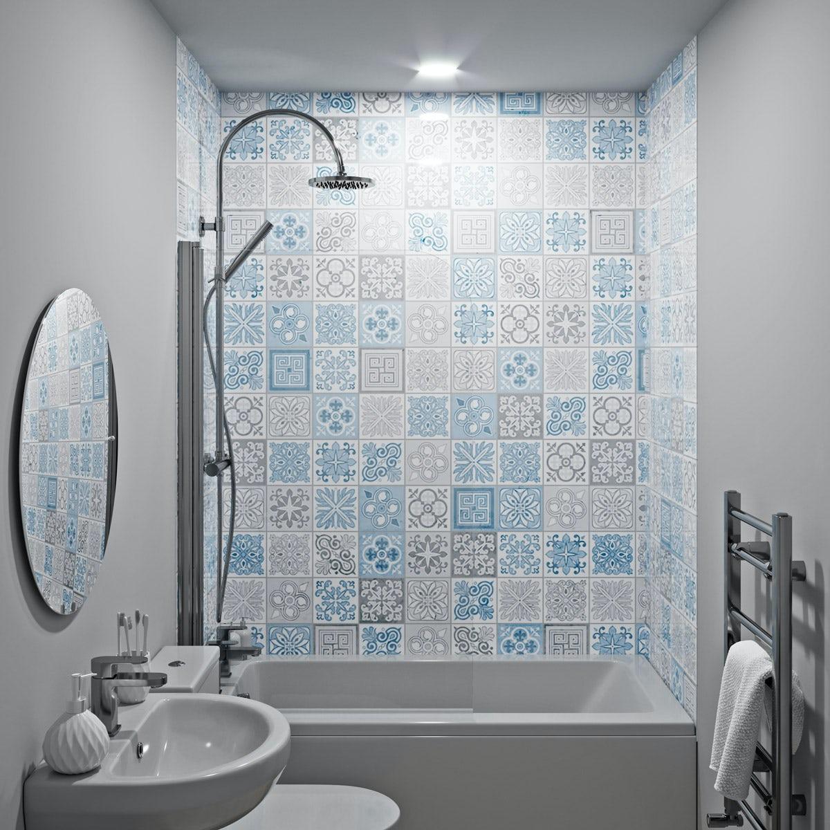 Showerwall Custom Vict Blue Acrylic Wall Panel