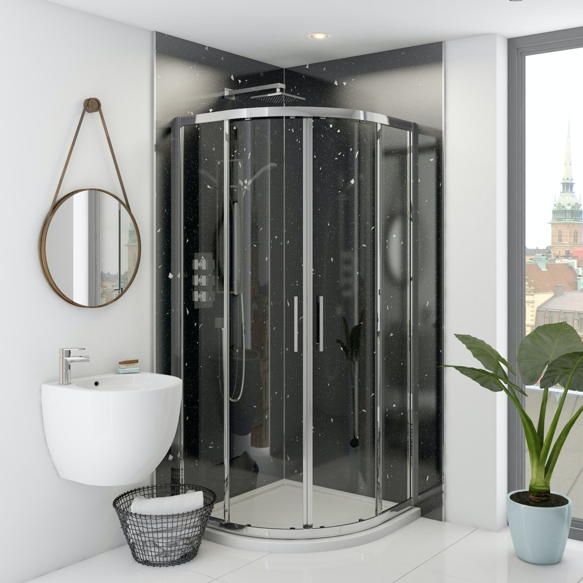 Multipanel Classic Stardust unlipped shower wall panel 2400 x 1200
