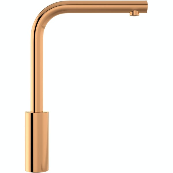 Schon Firth L shaped gold single lever kitchen mixer tap