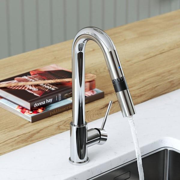 Bristan Gallery Smart Measure single lever kitchen mixer tap