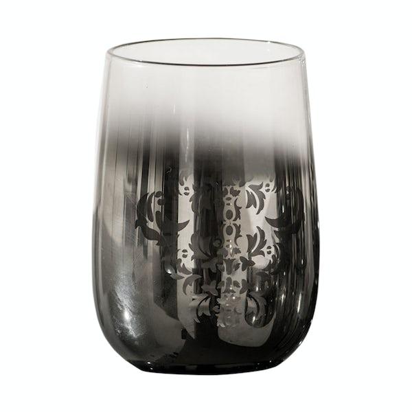 Elissa glass silver tumbler
