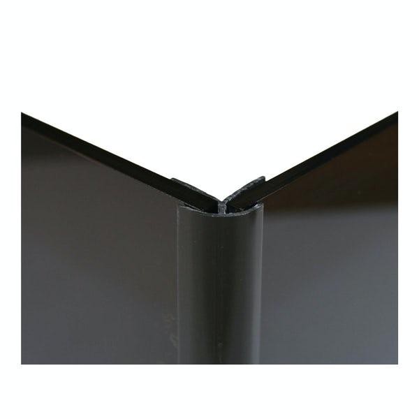 Zenolite plus matt jet colour matched external corner joint 250mm