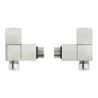 The Heating Co. Square angled radiator valves