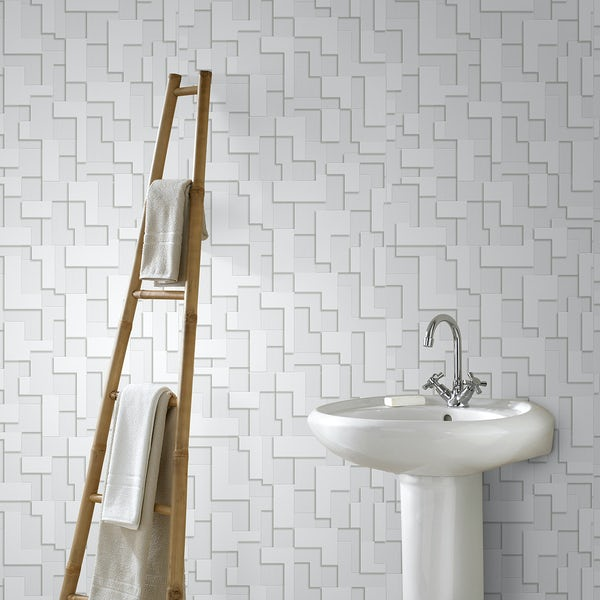 Graham & Brown Checker cream wallpaper