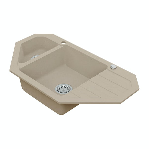Schon Otranto Sand 1.5 bowl reversible countertop kitchen sink