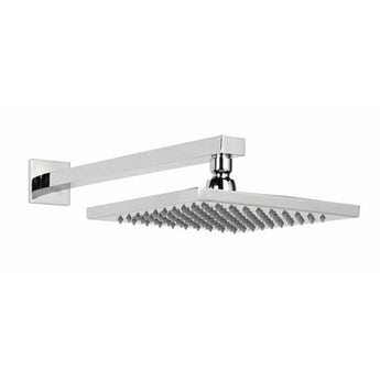 Orchard Square shower head 200mm with wall arm