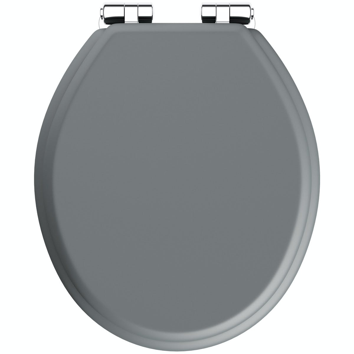 Picture of: The Bath Co Traditional Dulwich Stone Grey Engineered Wood Toilet Seat With Top Fixing Soft Close Hinge Victoriaplum Com